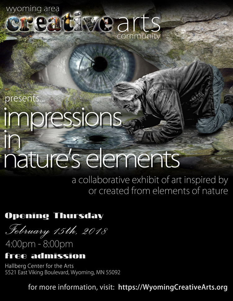 Impressions in Nature's Elements Art Exhibit opens at the Hallberg Center for the Arts on February 15, 2018