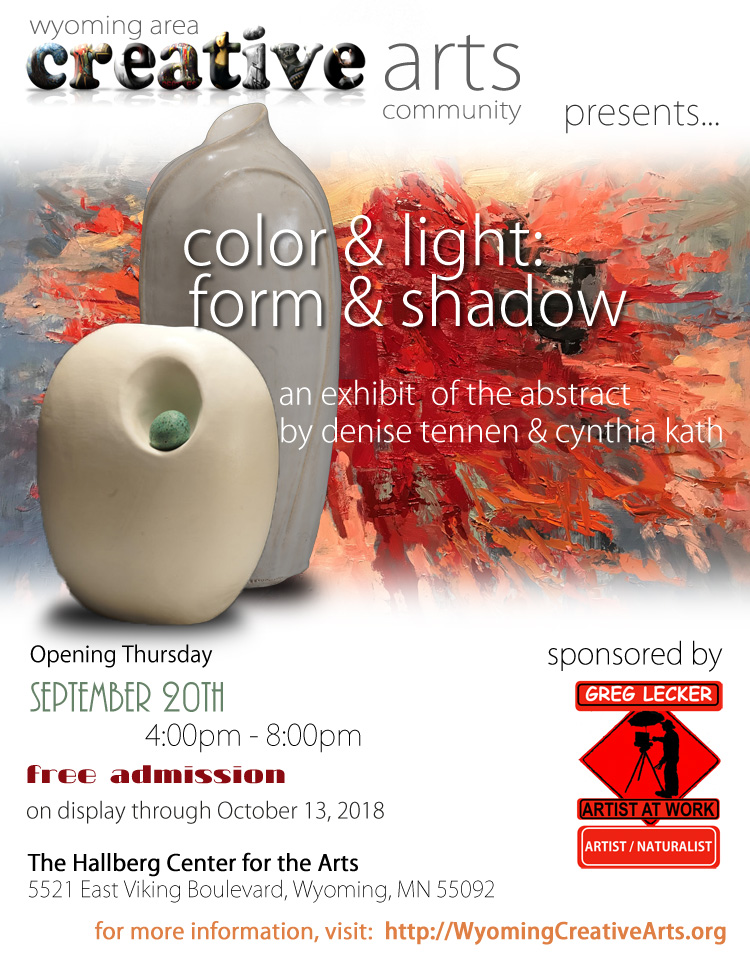 Color & Light:  Form and Shadow sponsored by Greg Lecker