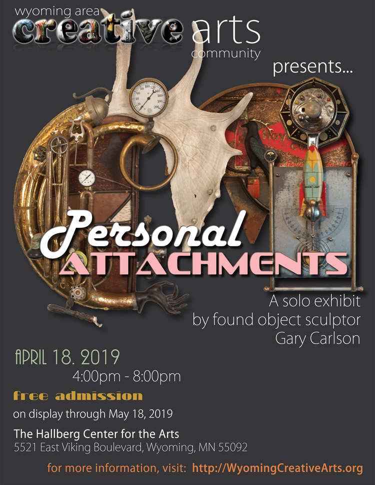 Personal Attachments by sculptor Gary Carlson at the Hallberg Center for the Arts