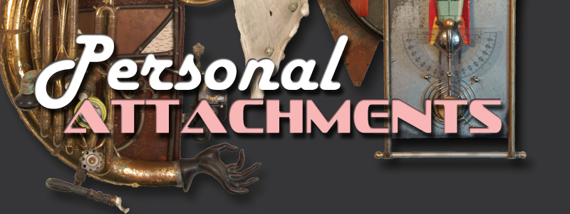 Personal Attachments by Gary Carlson opens April 18, 2019 in the Main Gallery of the Hallberg Center for the Arts