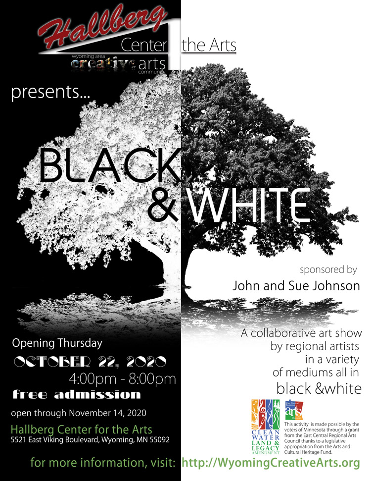 Black & White 2020 at the Hallberg Center for the Arts